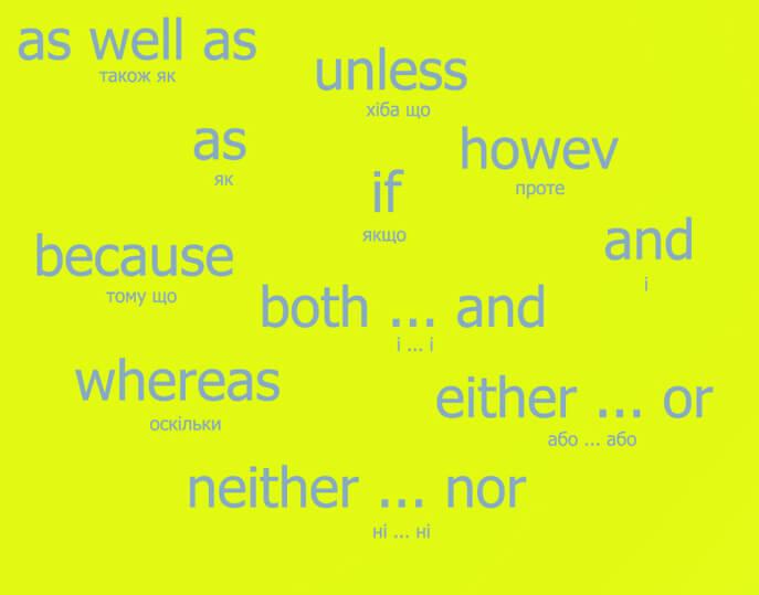 Сполучники в англійській мові